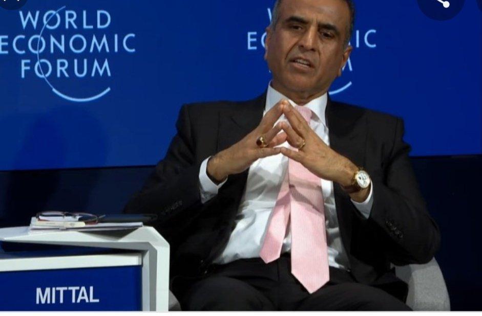 Rencontre au sommet entre Félix Tshisekedi et Sunil Mittal, le patron d'Airtel, lors du Forum économique mondial
