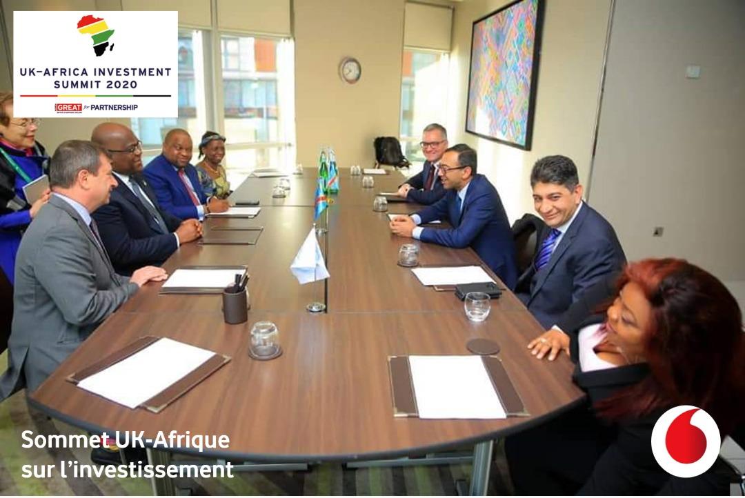Sommet UK-Afrique sur l'investissement : tête-à-tête entre S.E.M. Félix TSHISEKEDI et la délégation de Vodacom Congo