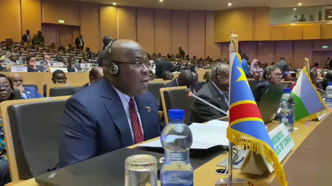 33e sommet de l'UA : Félix Tshisekedi prêche une Afrique sans armes tournée vers son développement