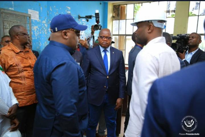 RDC : Félix Tshisekedi inspecte les différents  chantiers à travers la ville de Kinshasa