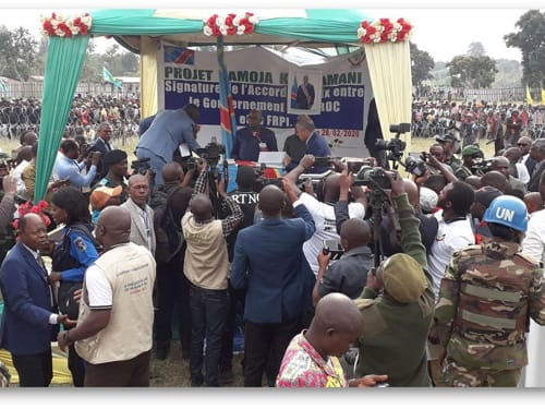 RDC-Ituri : Signature d'un accord de paix entre le gouvernement et la milice FRPI