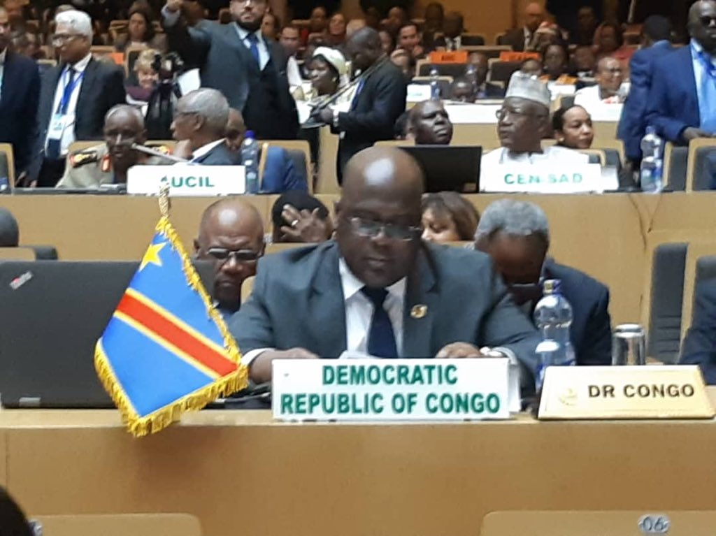 Félix Tshisekedi prend part du 9 au 10 février au 33ème sommet de l'UA à Addis Abeba
