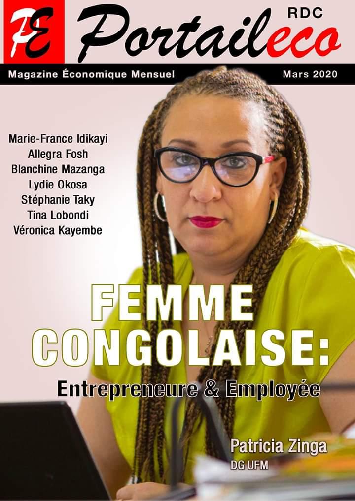 """Sous le signe de la promotion de la """"Femme Congolaise"""", Portaileco Magazine dévoile la Une de son édition spéciale de Mars"""