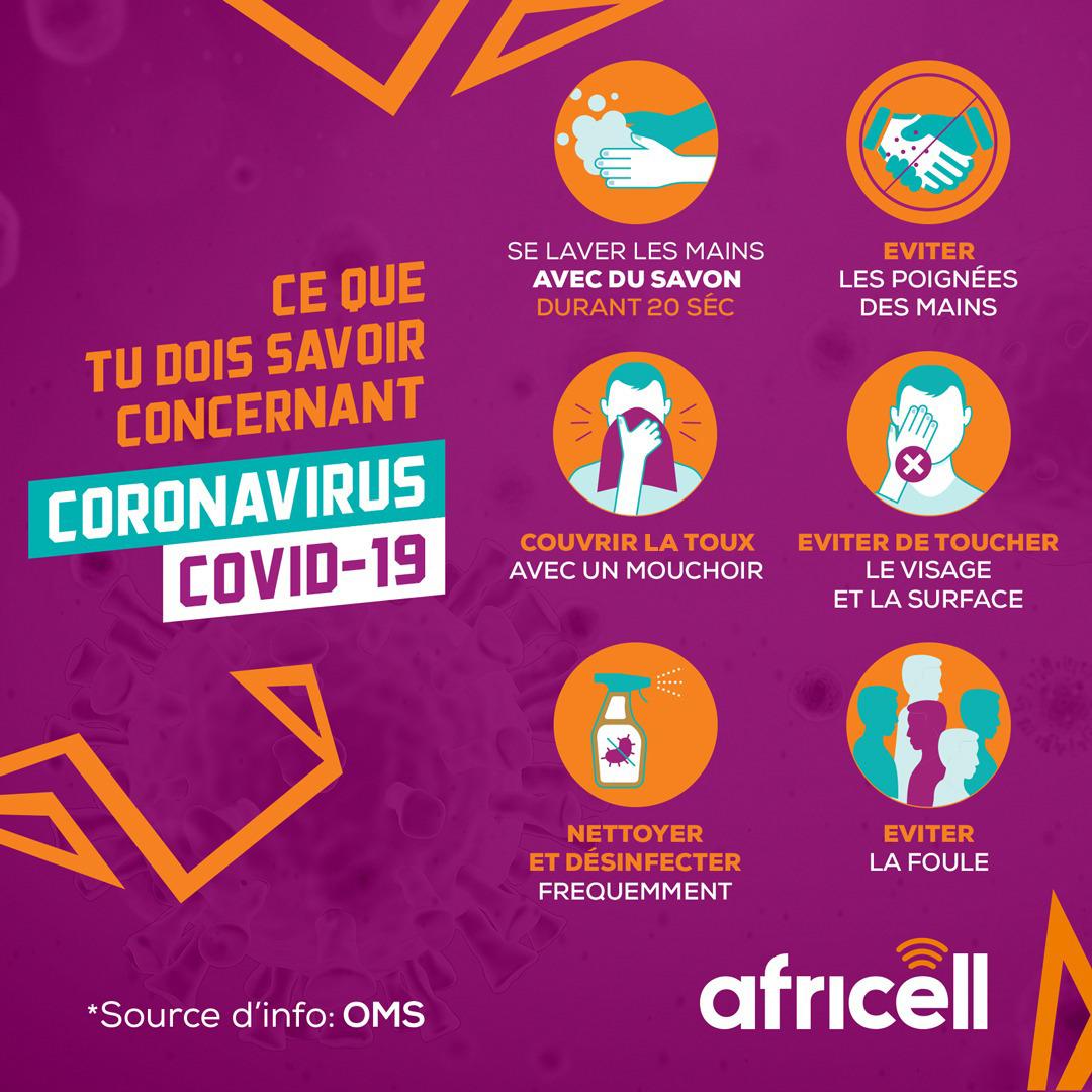 Télécoms : l'implication d'Africell contre le Coronavirus en RDC