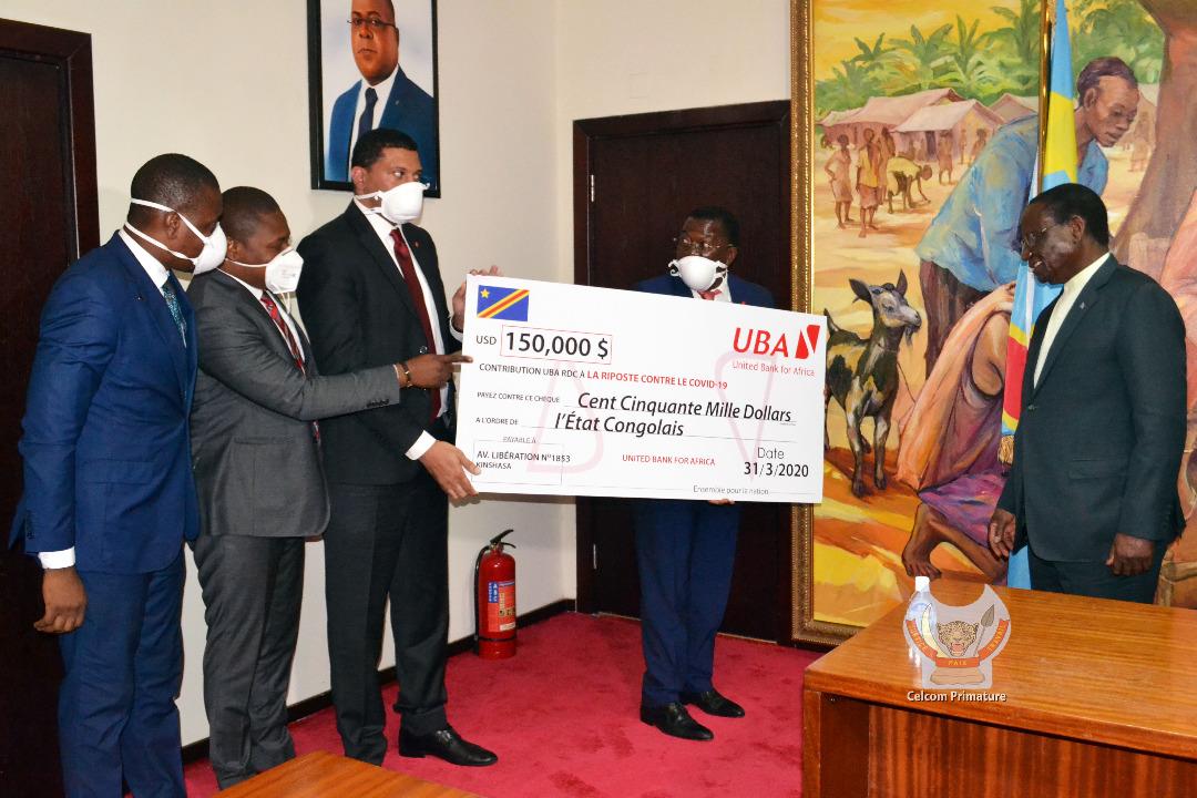 Riposte contre COVID-19 en RDC : le gouvernement a réçu une somme de 150.000 USD auprès de l'UBA