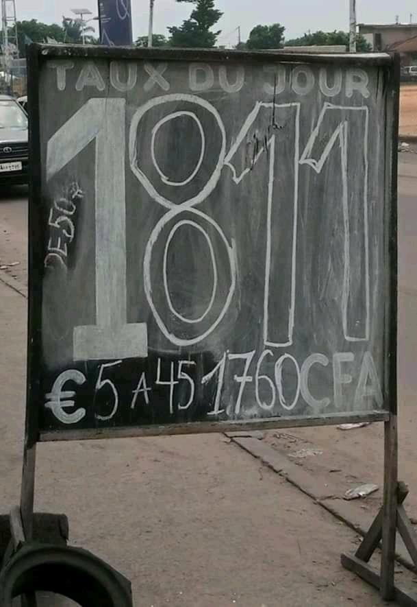 Économie -Taux de change : Avec 1$ à 1800, le franc congolais en perte de vitesse sur le marché