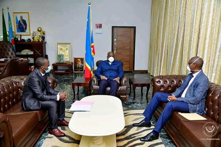 RDC/Lutte contre Covid-19: Jérôme Munyangi reçu par Félix Tshisekedi