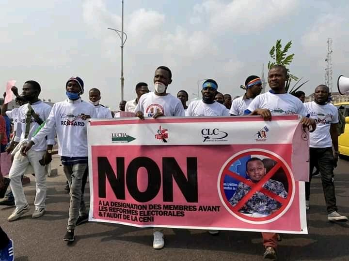 Kinshasa : la marche anti-Malonda du CLC, Filimbi,Lucha dispersée par la police