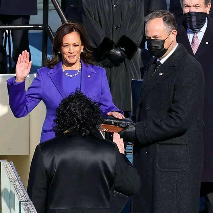 Investiture de Joe Biden : Kamala Harris entre dans l'histoire des États-Unis