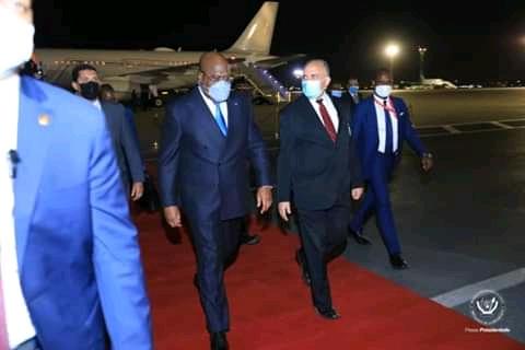 Diplomatie : en mission officielle en Egypte, Félix Tshisekedi sera reçu ce mardi par Abdel Fatah Al Sissi