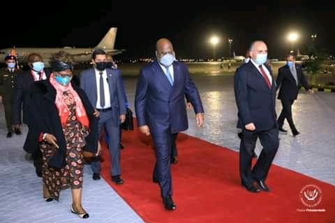 Coopération : Félix Tshisekedi est arrivé en Egypte
