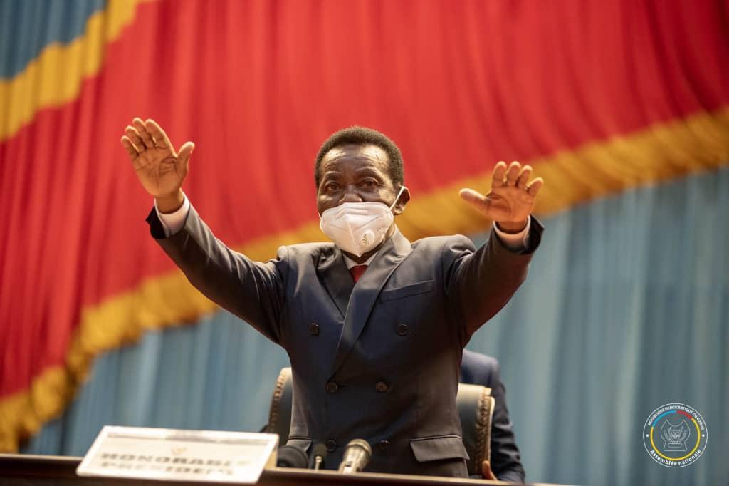 Assemblée nationale : sans surprise générale, Mboso N'kodia est élu président du bureau définitif avec 389 voix