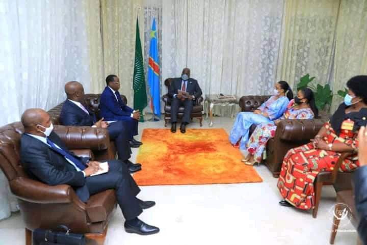 Sénat : échange entre Félix Tshisekedi et les nouveaux membres du bureau définitif