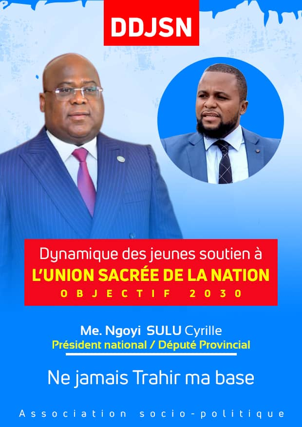 """RDC: une dynamique des jeunes de soutien à l'Union sacrée """"objectif 2030"""" voit le jour dans la province de Lomami"""