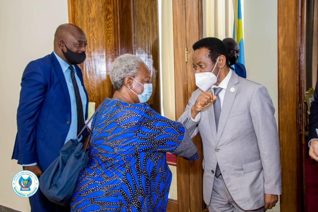 Tête-à-tête Mboso N'kodia et Bintou Keïta : le processus électoral et l'insécurité à l'Est au menu des échanges