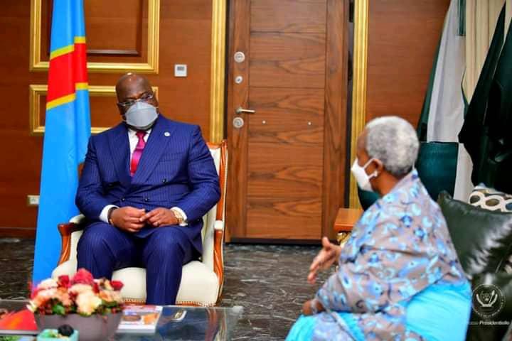 RDC: Bintou Keïta a présenté à Félix Tshisekedi le rapport de sa dernière mission à l'Est
