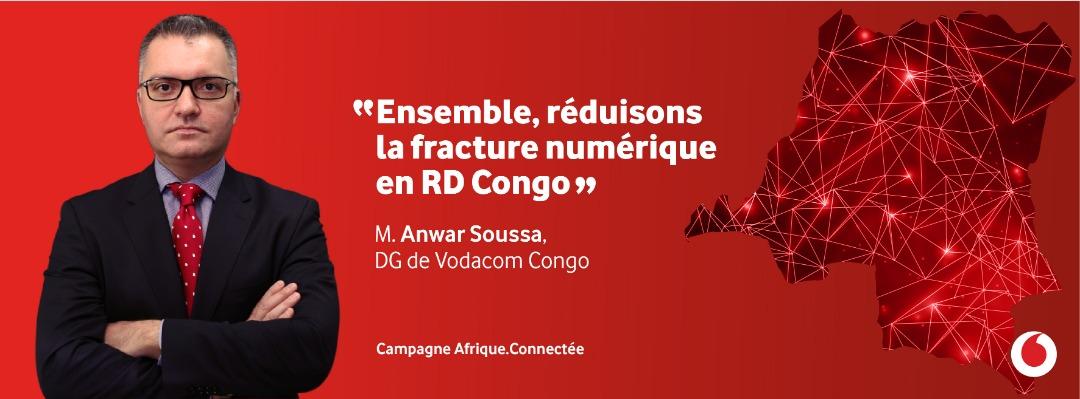 """M. Anwar Soussa, DG de Vodacom Congo : « Ensemble, réduisons la fracture numérique en RD Congo » [Campagne """"Afrique.Connectée""""]"""