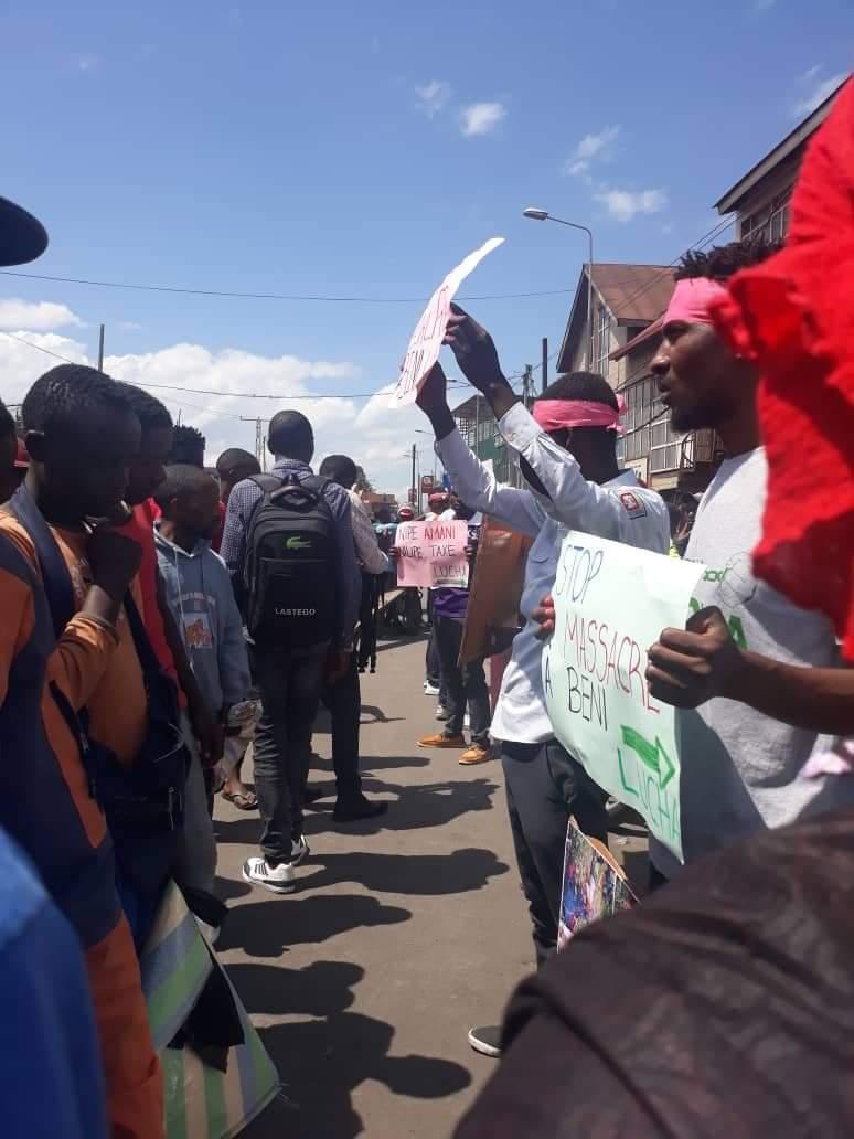 Goma : arrêtés dans une manifestation pour dénoncer les massacres à Beni, les 13 militants de la LUCHA sont libres