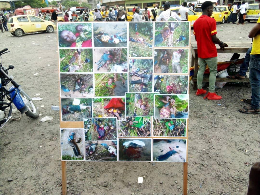 Kinshasa : quelques photos des victimes des massacres à l'Est exposées par la Lucha ce samedi au Rond-point Huileries