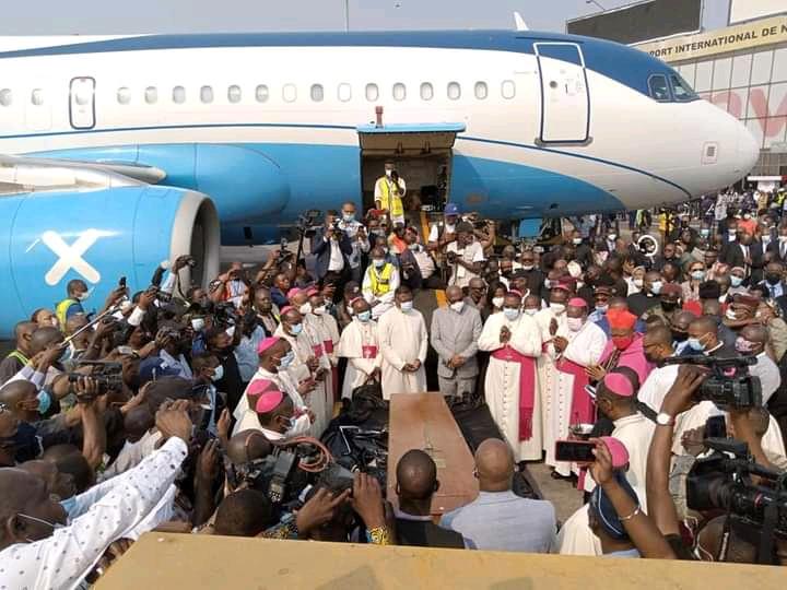 RDC/Église Catholique : La dépouille du cardinal Monsengwo déjà à Kinshasa depuis ce dimanche