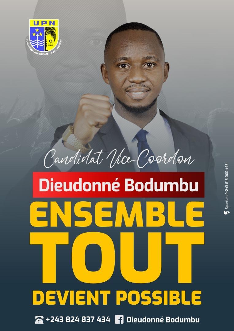 UPN/Élection Coordination 2021 : « l'UPN pour l'instant a besoin d'un leadership fort » (Dieudonné Bodumbu Candidat Vice-coordonateur)