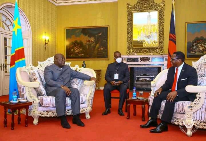 RDC/Malawi : Félix Tshisekedi reçu à Lilongwe par le président Lazarus M'carthy Chanwera