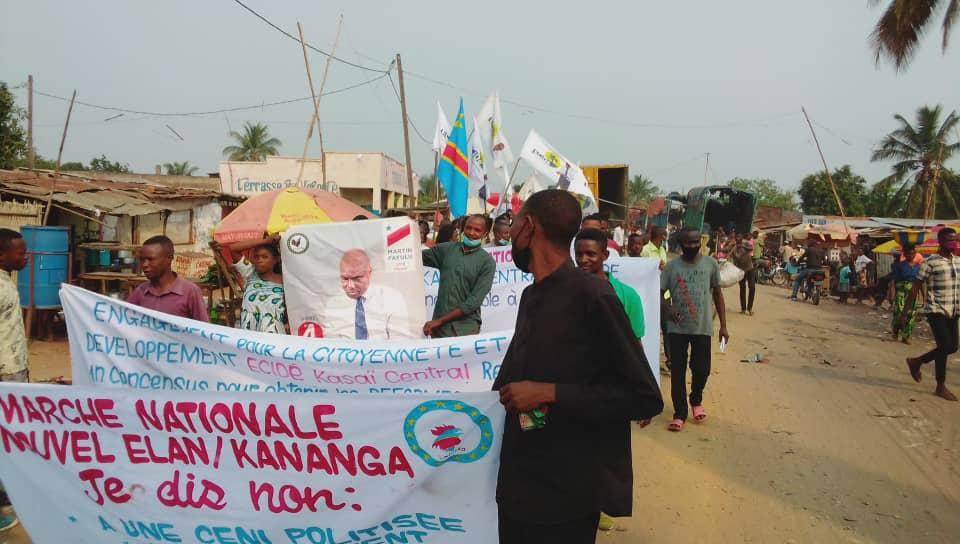 Kananga : La marche de Lamuka étouffée par les policiers déployés sur la ville