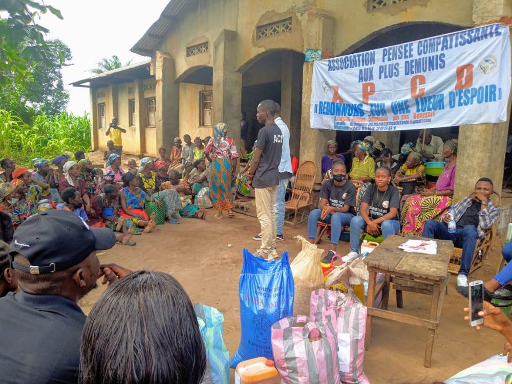 Kananga : La visite d'une structure locale à l'hospice de Kamuandu donne sourire et joie aux vieillards